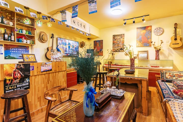 拉萨市葡萄小院有氧双床房(供暖)
