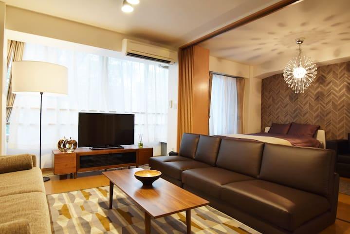 Near Shinjuku & Kabukicho 57m2 Luxury Apt #1M1 - Shinjuku-ku