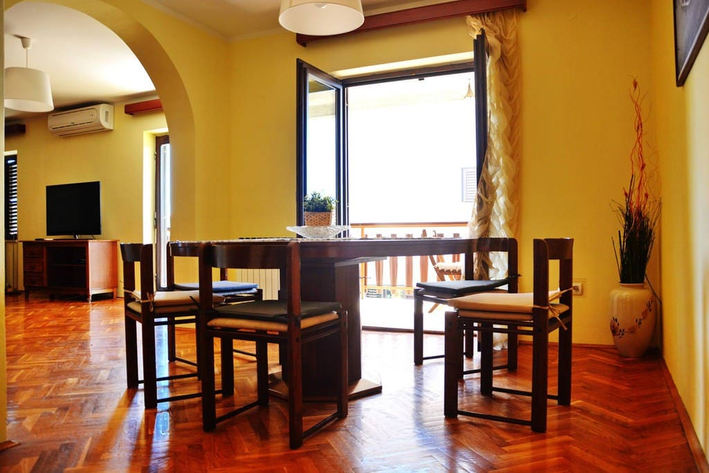 Dining Area with Balcony