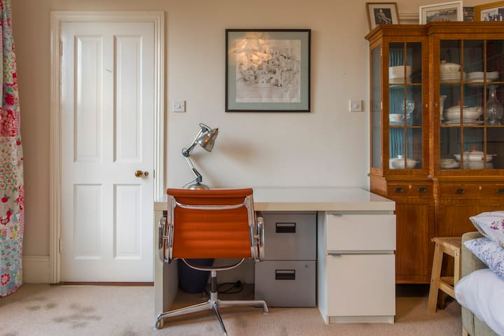 Desk space for working