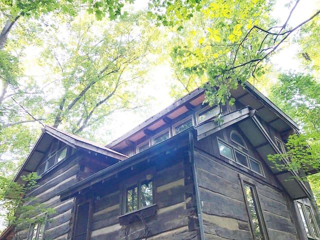 Rustic and Charming Log Cabin - Deer Path Yoga