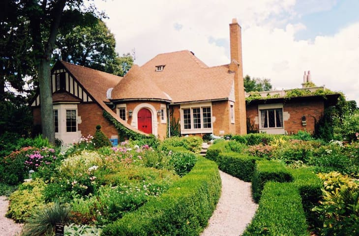 """A 'Must See"""" attraction in Streator! Weber House and Garden should not be missed during your visit."""