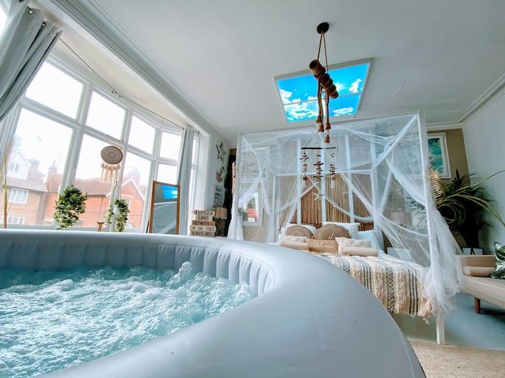The Beach Suite & Hot Tub @ Hotel Lush Canterbury
