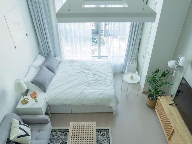 대구 중심지  반월당 복층하우스 / 뷰좋은 카페느낌 이지룸 EASY ROOM