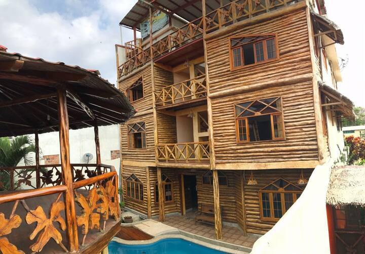 Habitación matrimonial en Prto. Cayo
