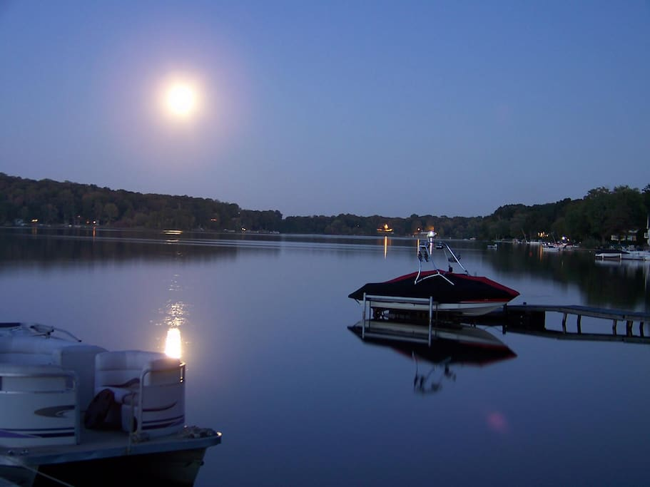 Moonrise, evening view from our back deck
