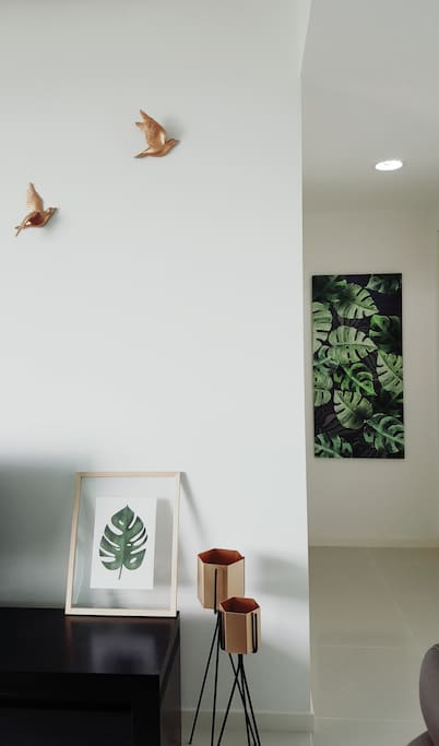 Tropical inspired interior decor