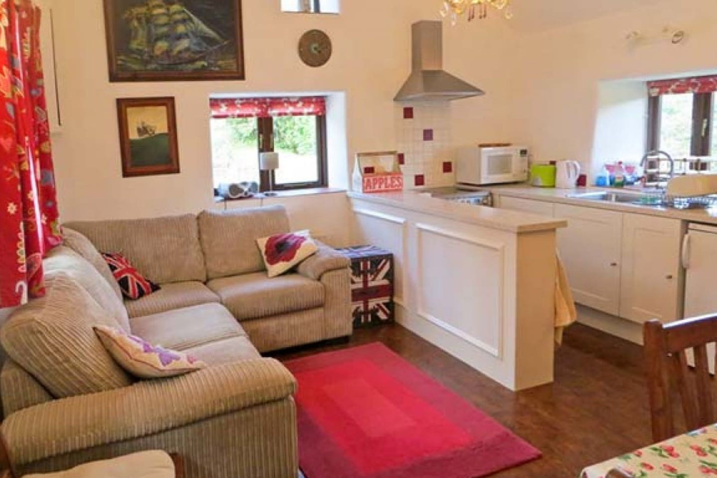 The cosy living area