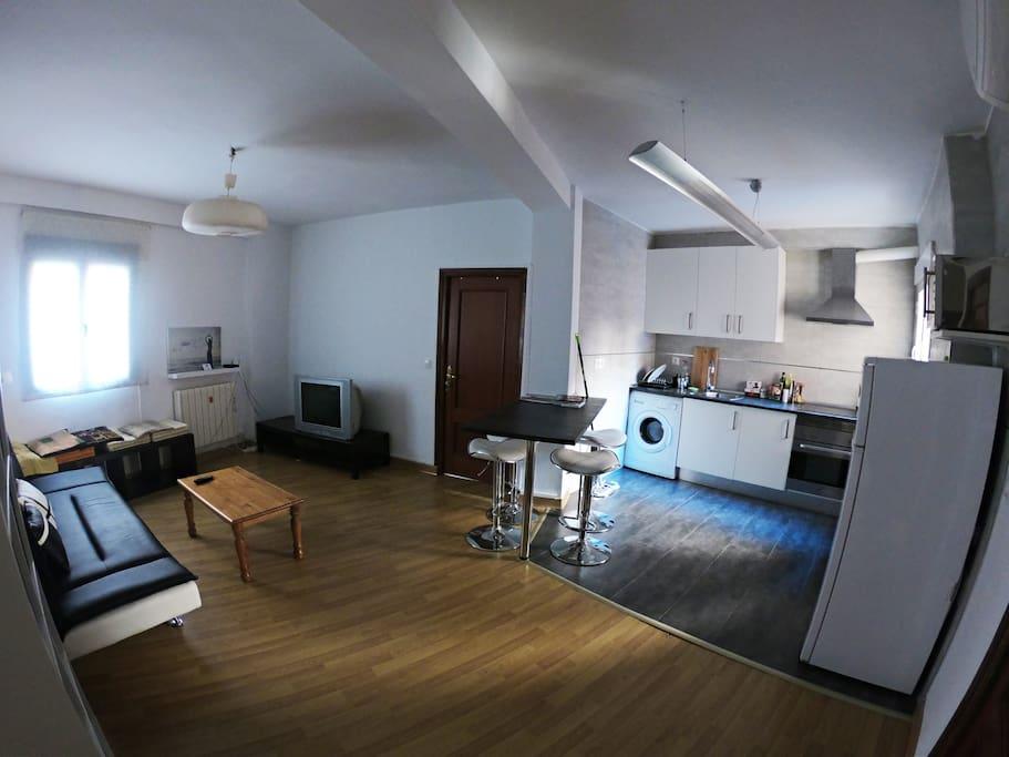 Salón - cocina planta abierta
