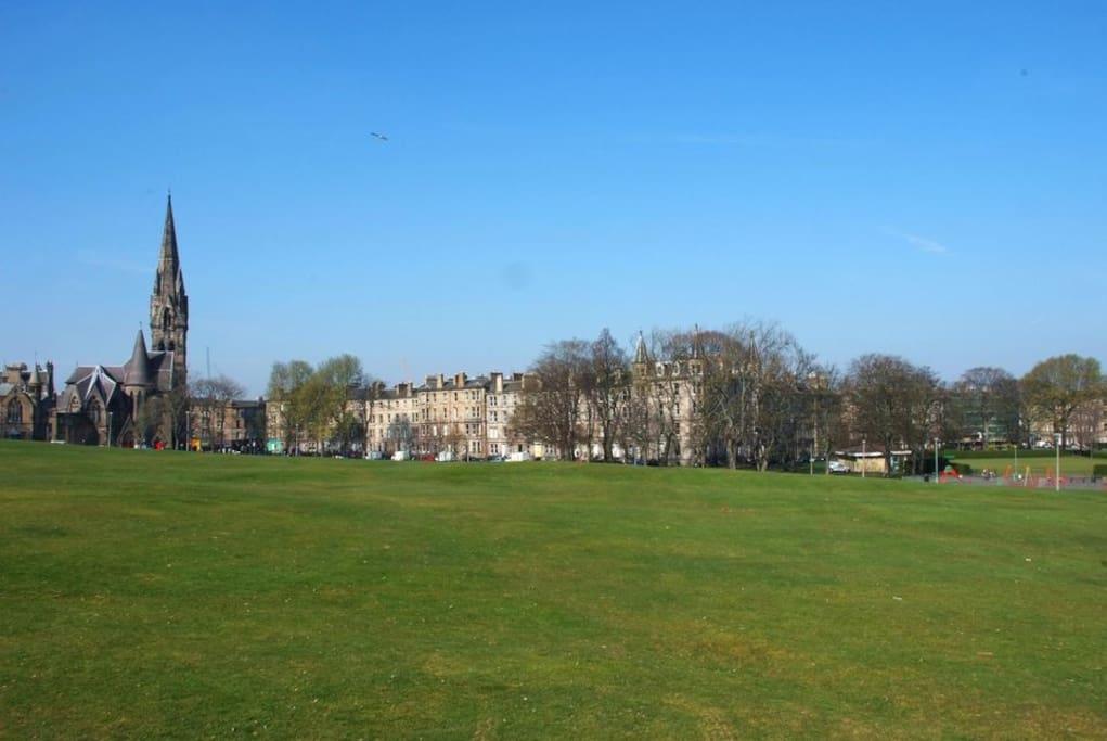Meadows Edinburgh- flat is in far right corner