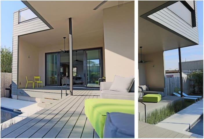 More views of the backyard space.