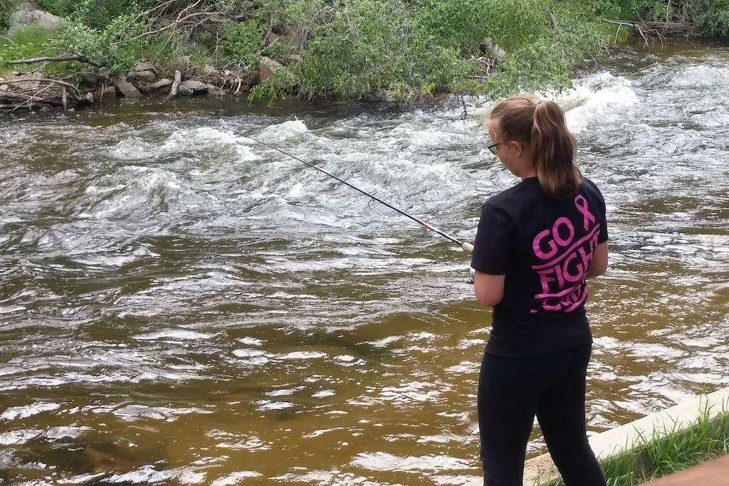 Did we say river!