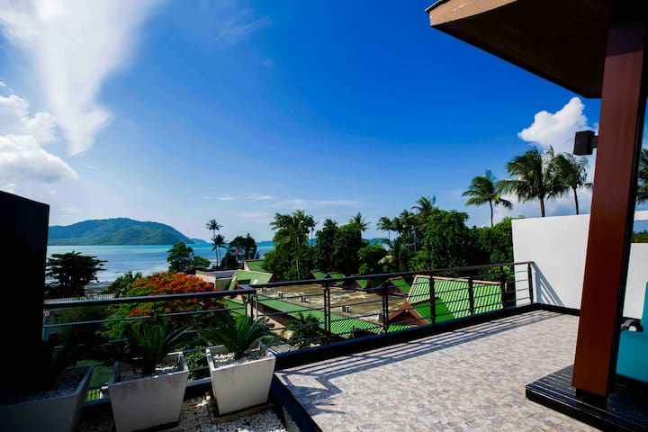 Luxury seaview pool Villa 3 bds Rawai (beach 200m)