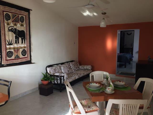 Practico Departamento Familiar!! - San Miguel de Cozumel - Flat