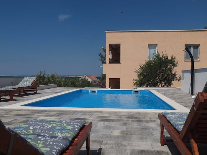 Apartment Jidra 3 with Terrace and Pool