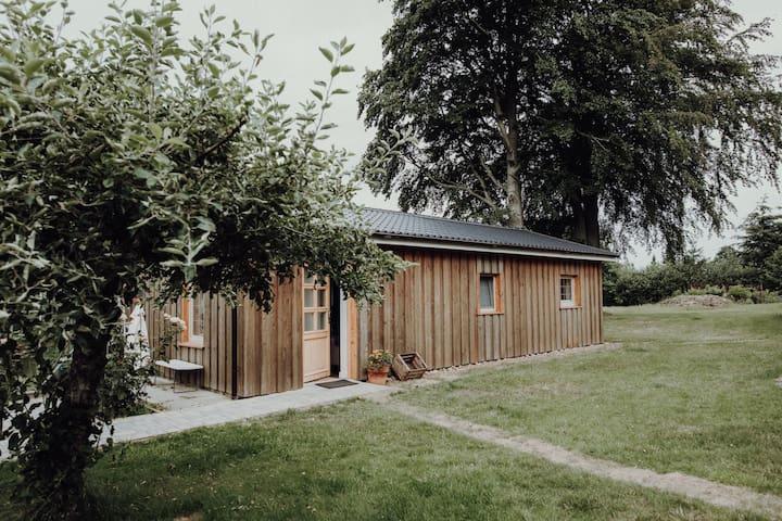 Holzhaus im Grünen mit Kamin | Ferienhaus Wingst
