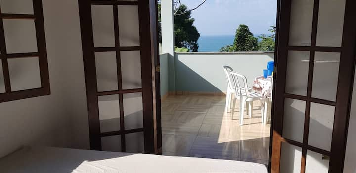 Casa Mar e Montanha 1 vista para o mar em Trindade