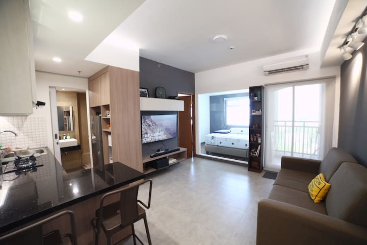 New modern apartment with city view in Jakarta