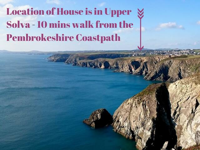 Upper Solva House near Pembrokeshire Coast Path - Solva - Hus
