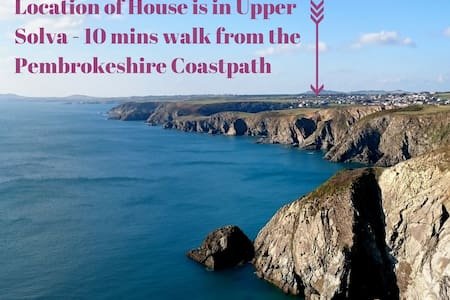 Upper Solva House near Pembrokeshire Coast Path - Solva - Casa