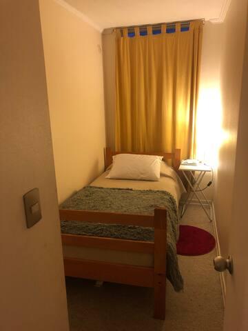 Habitación privada pequeña con baño privado