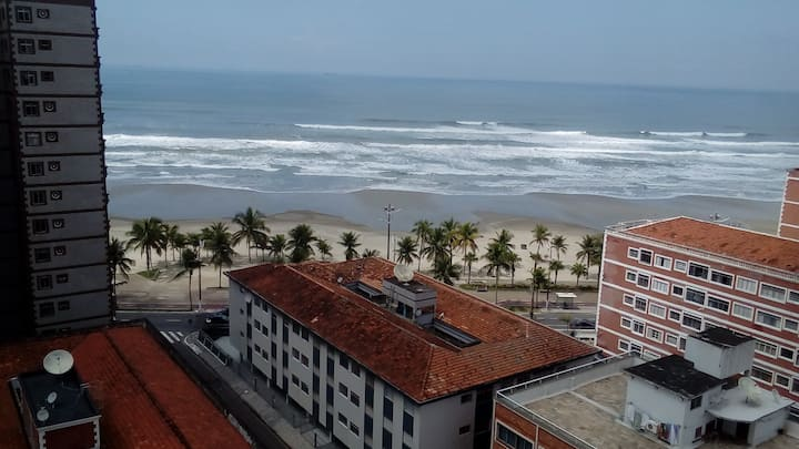 Praia Grande, apartamento com vista para o mar