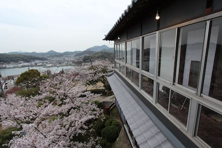 Trad Jpn private Room w/a view of Onomichi channel - Onomichi