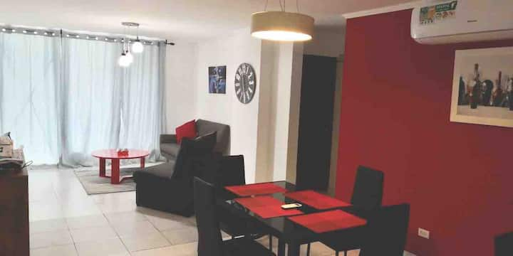 Great locat Apt 15 min Airp- PickUp Available