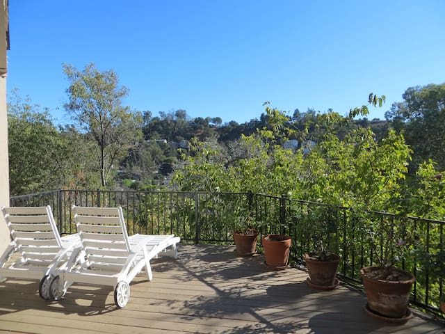 It's Winter on the Private Deck in Eagle Rock