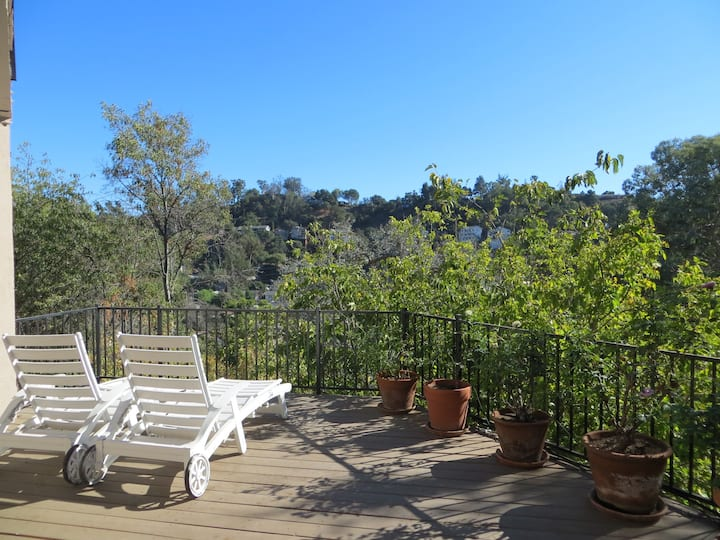 Take in the View on the Private Deck in Eagle Rock