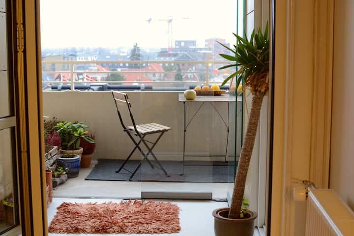 Cosy apartment 7 min from Copenhagen st.