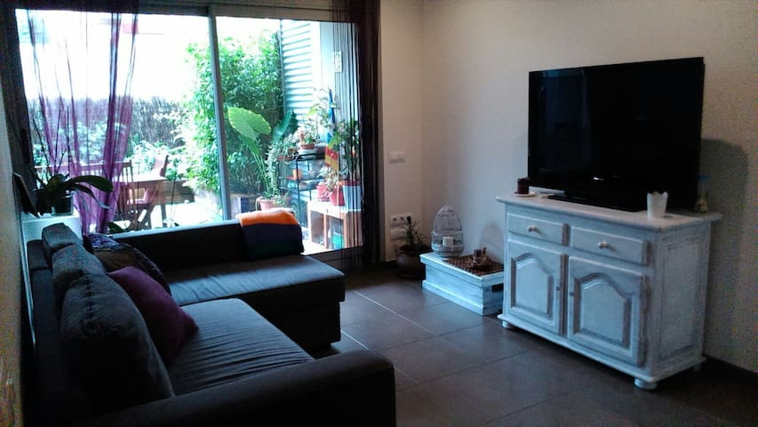 Cozy apartment with garden in La Garriga,near Bcn.