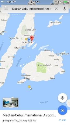 This map shows you the location of Pamilakan in relation to , Cebu , Panglao and Bohol. Pamilakan is the tiny orange dot on the sea at the lower left of the map.