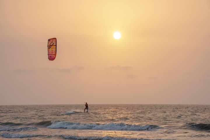 Cabaña kitesurf  de playa