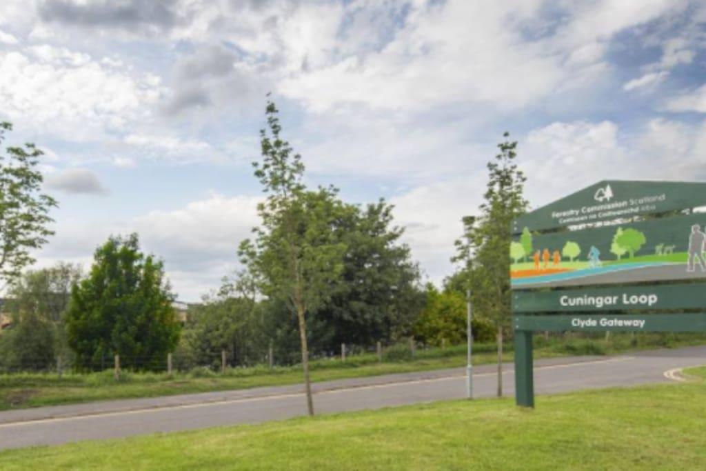 Vehicle entrance at Cuningar Loop