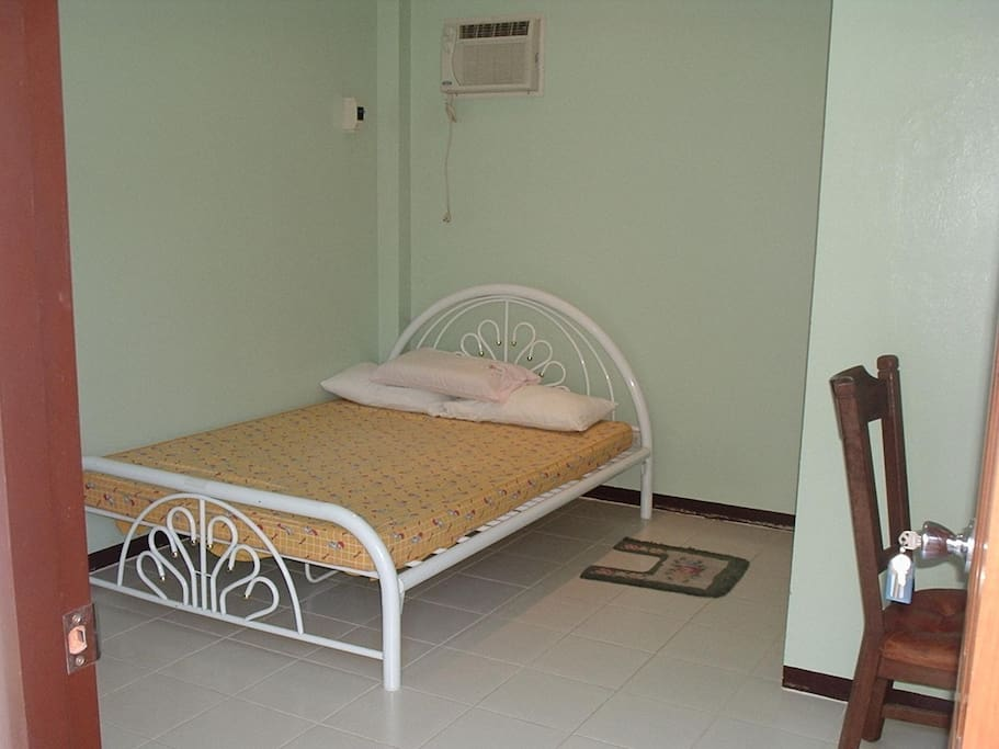 Our studio rooms have a bed, cabinets, airconditioner, and a personal refrigerator.