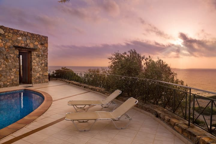 Artemis sea view villa in Elafonisos area - Chania - Villa
