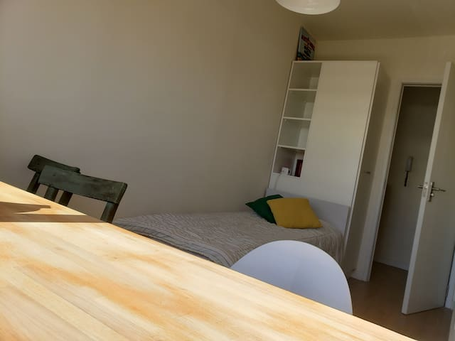 Habitación privada a 5 minutos del centro con wifi