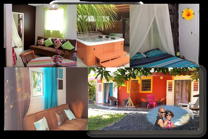 COCO ET MANGO SPA 2 F2 proche Soufrière et mer - Baillif - Apartament