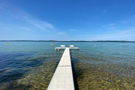 NEW! Cabin on Torch Lake with Sunset Views