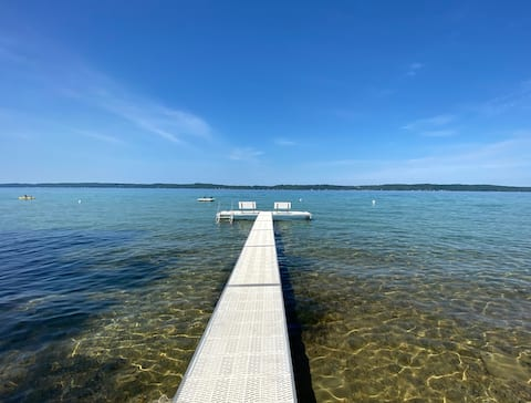Torch Lake Cabin with Water & Sunset Views