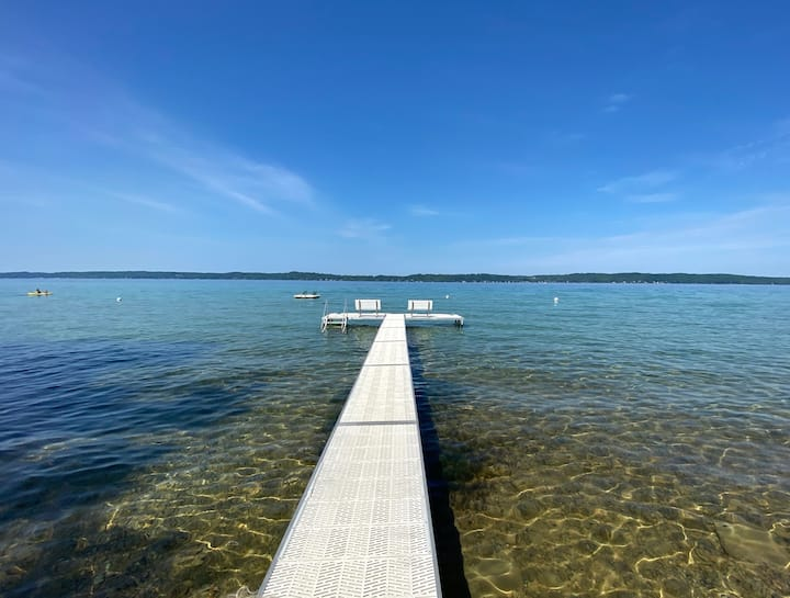 Cabin on Torch Lake with Sunset Views