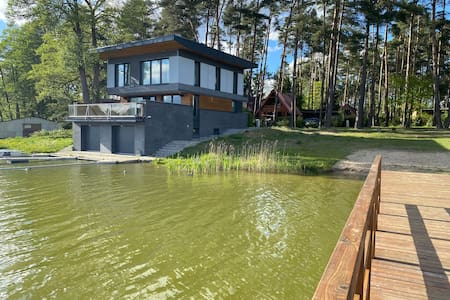 Beautiful lake Villa at the surrounded by forest.