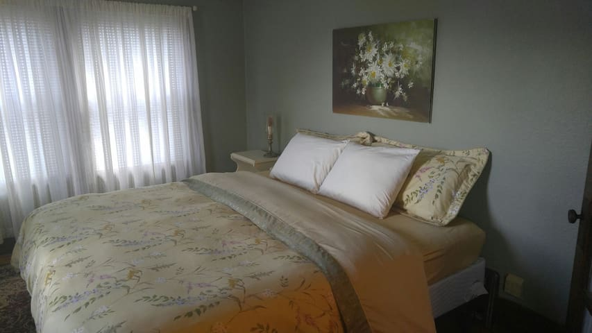 Red Wing-King bed-Quiet-Fast Wi-Fi-near downtown