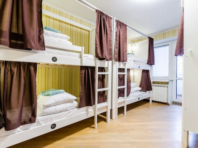 Bed in a general 6-bed room . Sun City Hostel 3