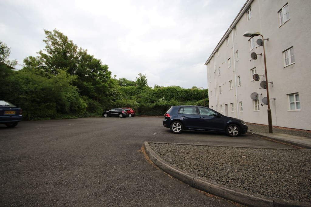Private parking to the rear of the property