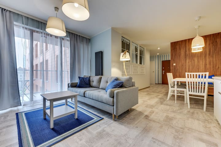 AURA Apartament Deluxe Suite z 2 sypialniami (104) - Gdańsk - Daire