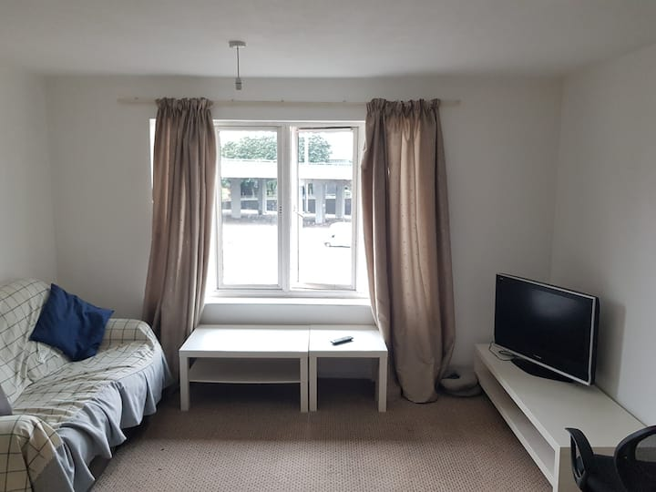 1 Bed Apartment Lounge + Dining, Open Plan kitchen