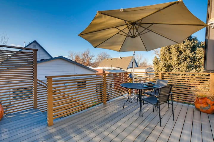 Enjoy outdoor space on private deck