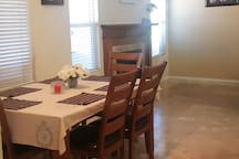 Formal dining area - Fireplace in the back drop
